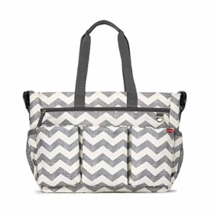 Skip Hop Diaper Bag Tote for Double Strollers with Matching Changing Pad