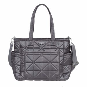TWELVElittle Carry Love Diaper Bag Tote (Platinum)